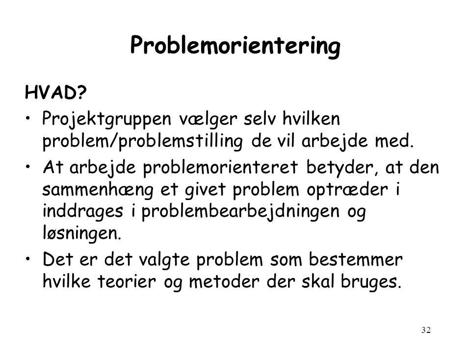 32 Problemorientering HVAD.