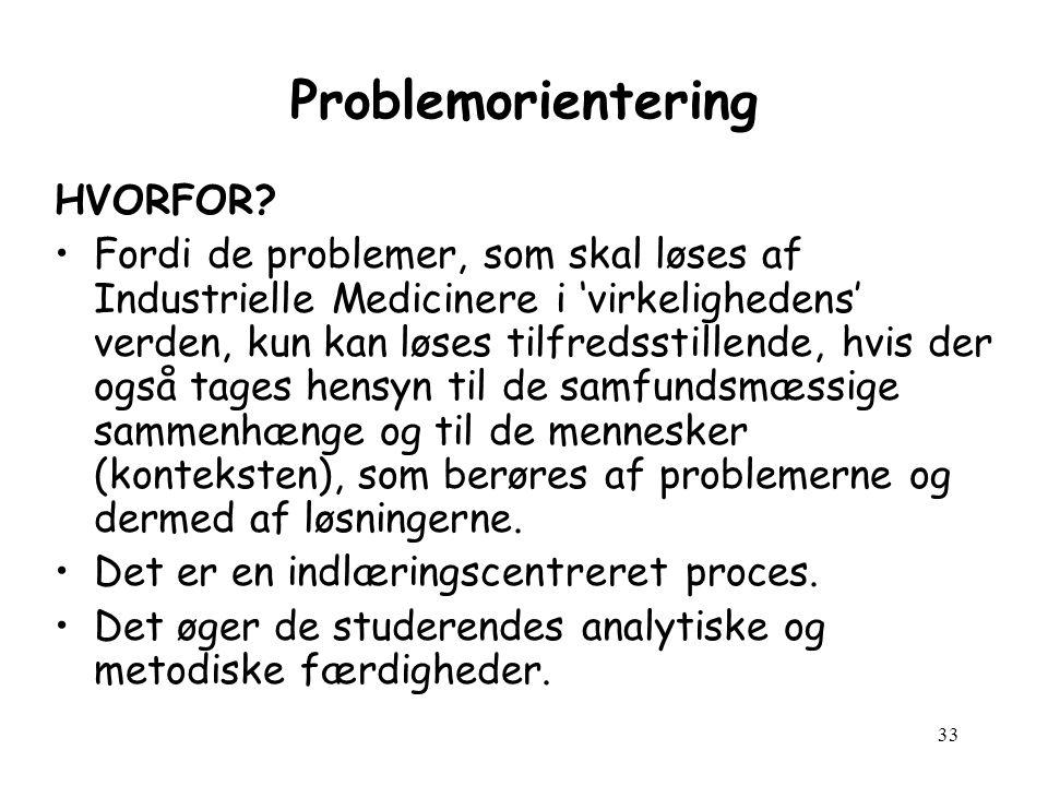 33 Problemorientering HVORFOR.