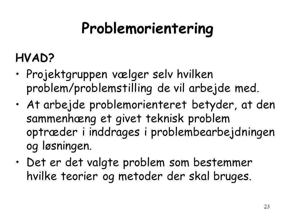 23 Problemorientering HVAD.