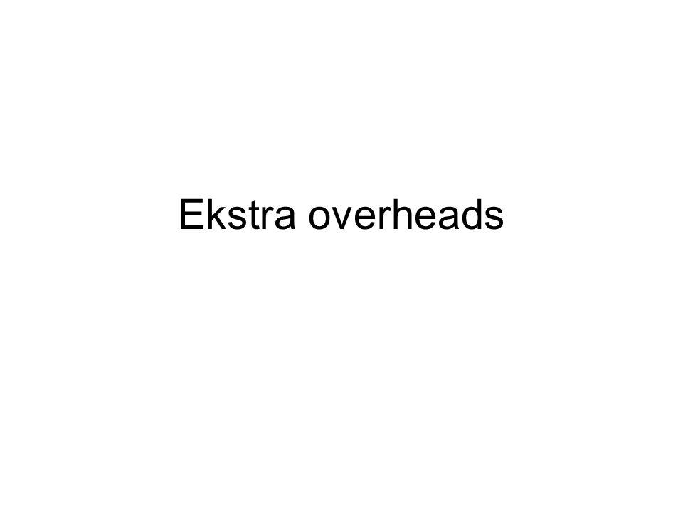 Ekstra overheads