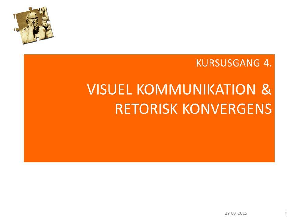 129-03-2015 KURSUSGANG 4. VISUEL KOMMUNIKATION & RETORISK KONVERGENS