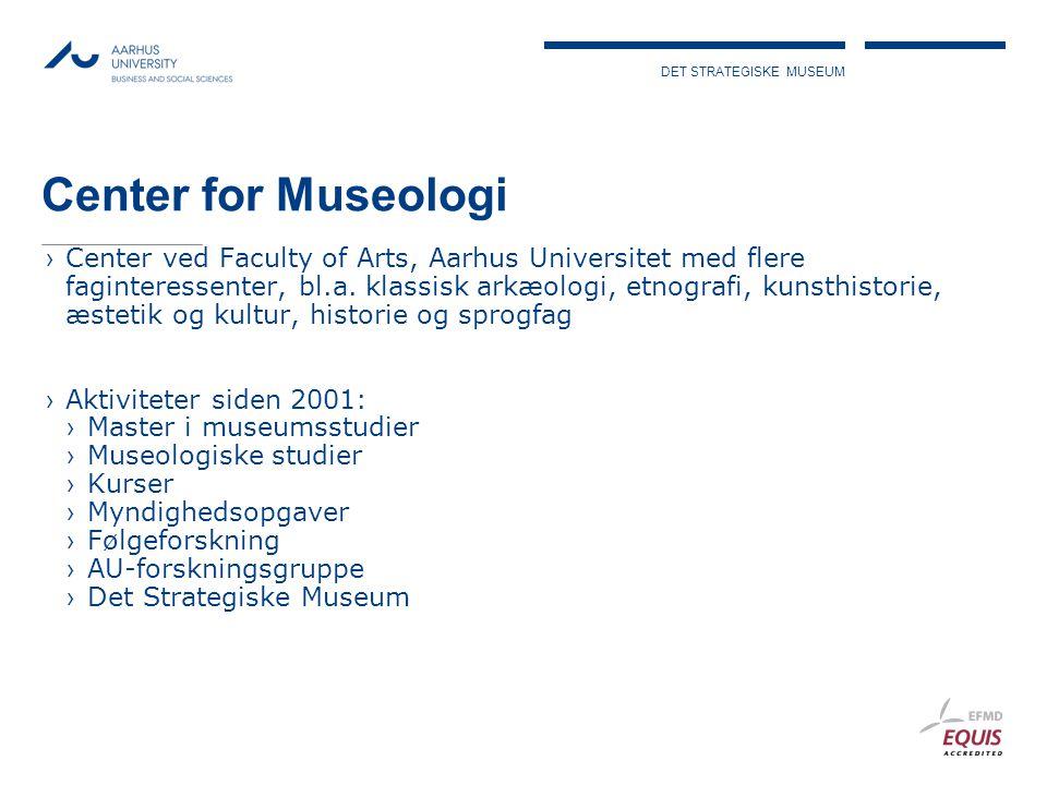 DET STRATEGISKE MUSEUM Center for Museologi ›Center ved Faculty of Arts, Aarhus Universitet med flere faginteressenter, bl.a.