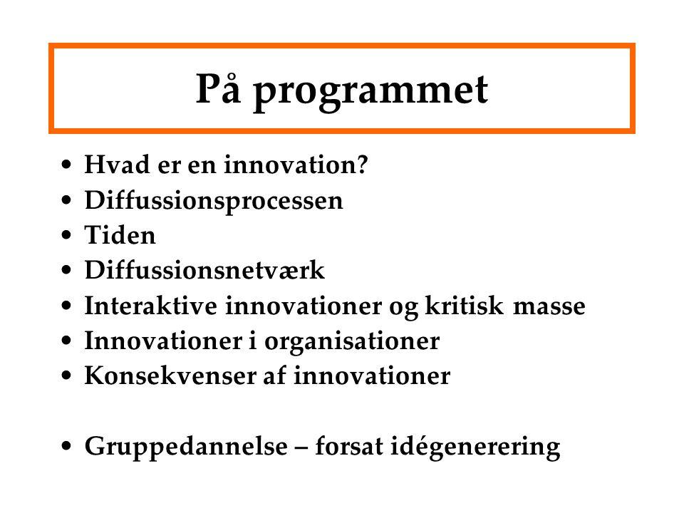 På programmet Hvad er en innovation.