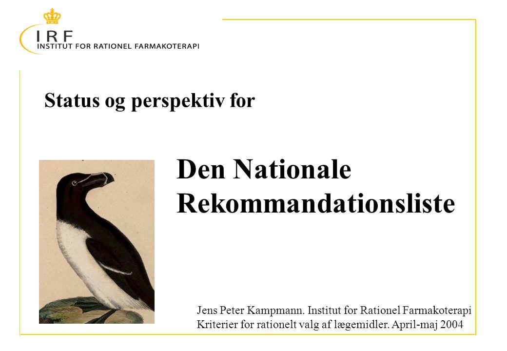 Status og perspektiv for Jens Peter Kampmann.
