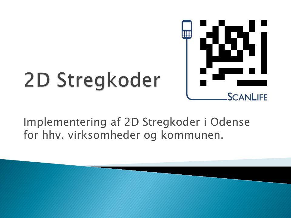 Implementering af 2D Stregkoder i Odense for hhv. virksomheder og kommunen.