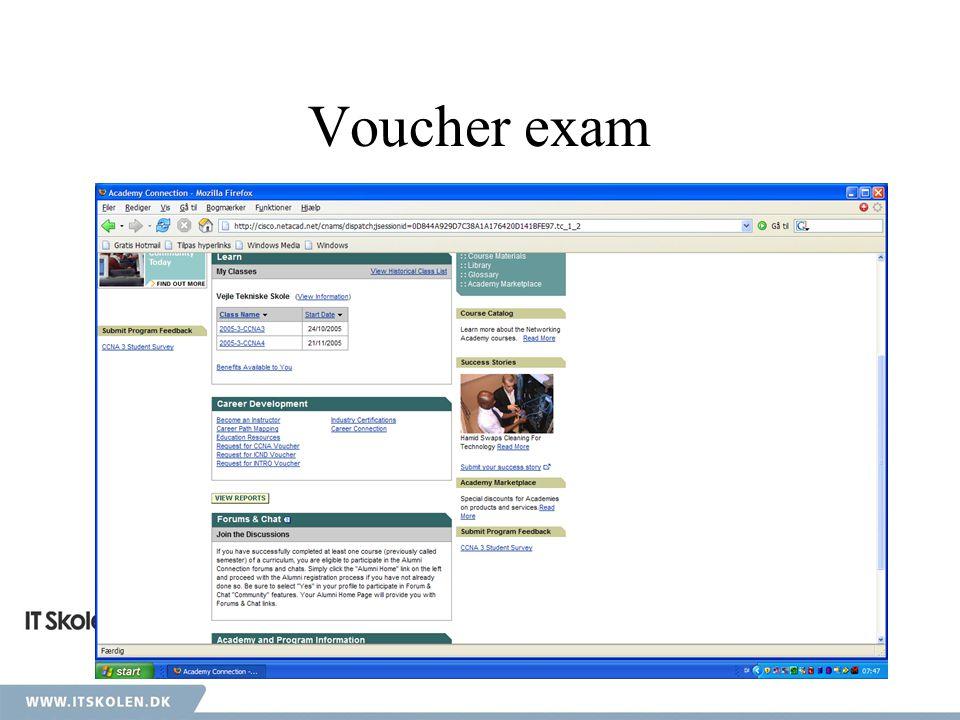 Voucher exam