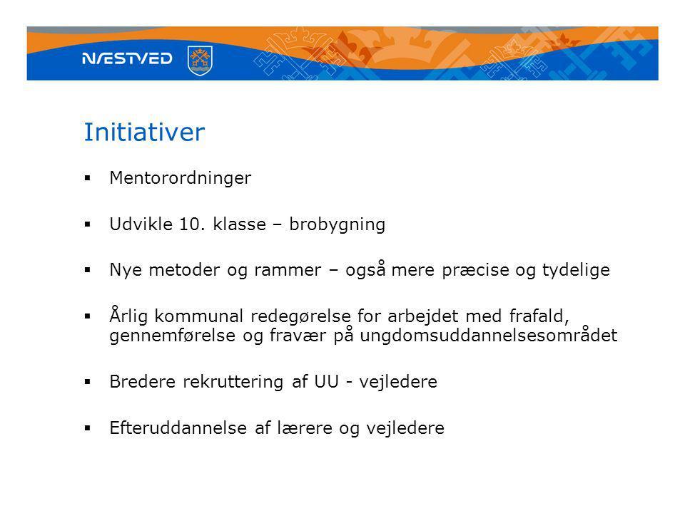 Initiativer  Mentorordninger  Udvikle 10.