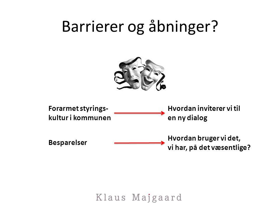 Barrierer og åbninger.