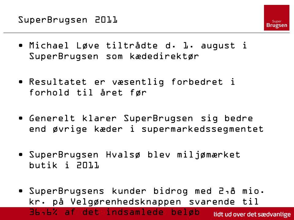 SuperBrugsen 2011 Michael Løve tiltrådte d. 1.