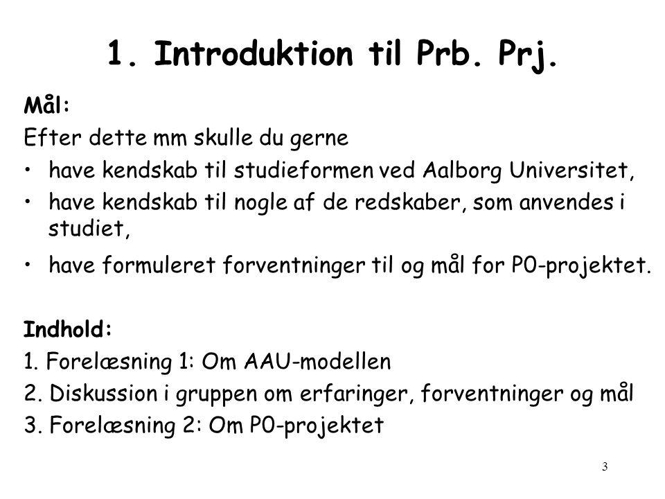 3 1.Introduktion til Prb. Prj.
