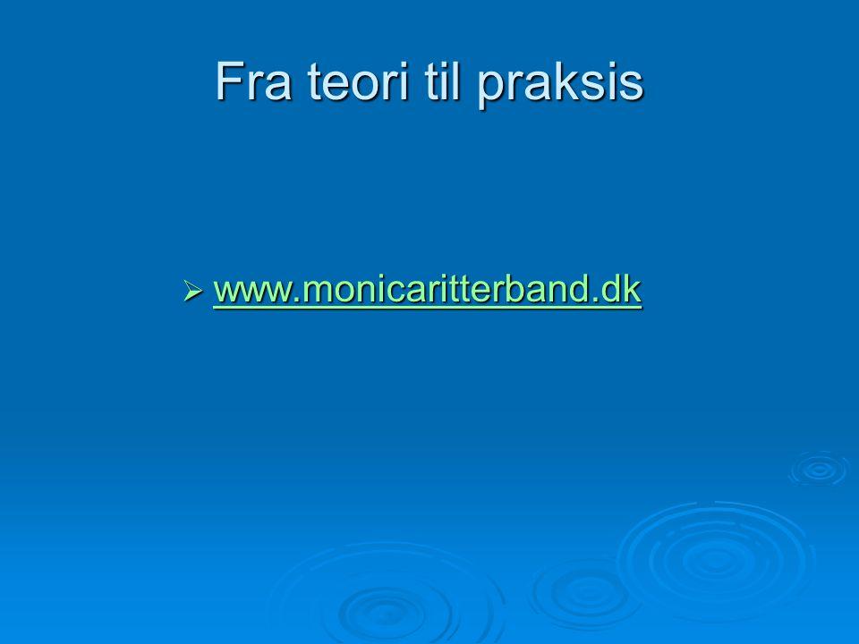 Fra teori til praksis  www.monicaritterband.dk www.monicaritterband.dk