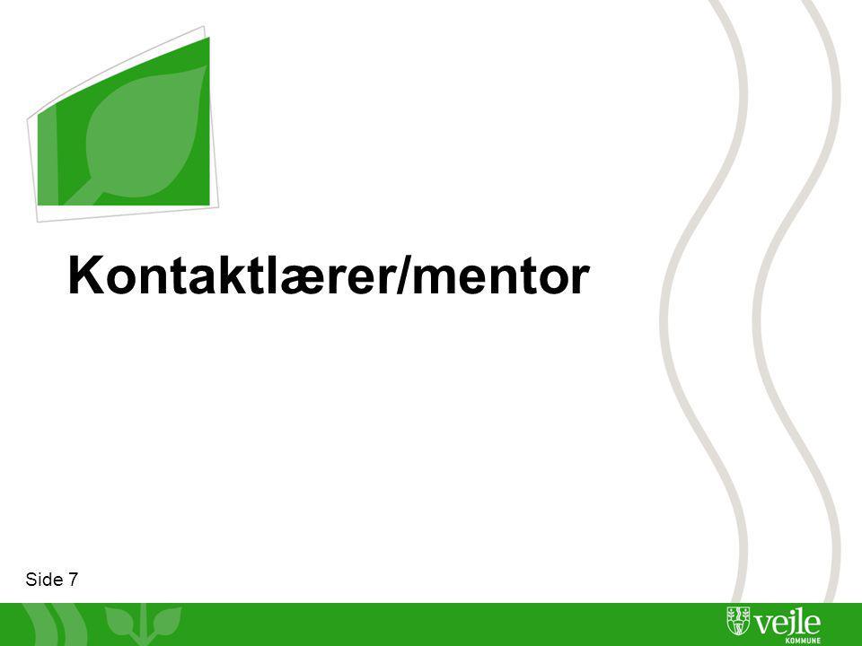Side 7 Kontaktlærer/mentor