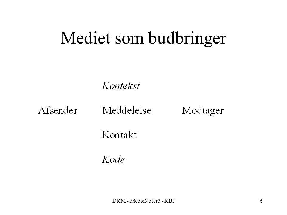 DKM - MedieNoter3 - KBJ6 Mediet som budbringer