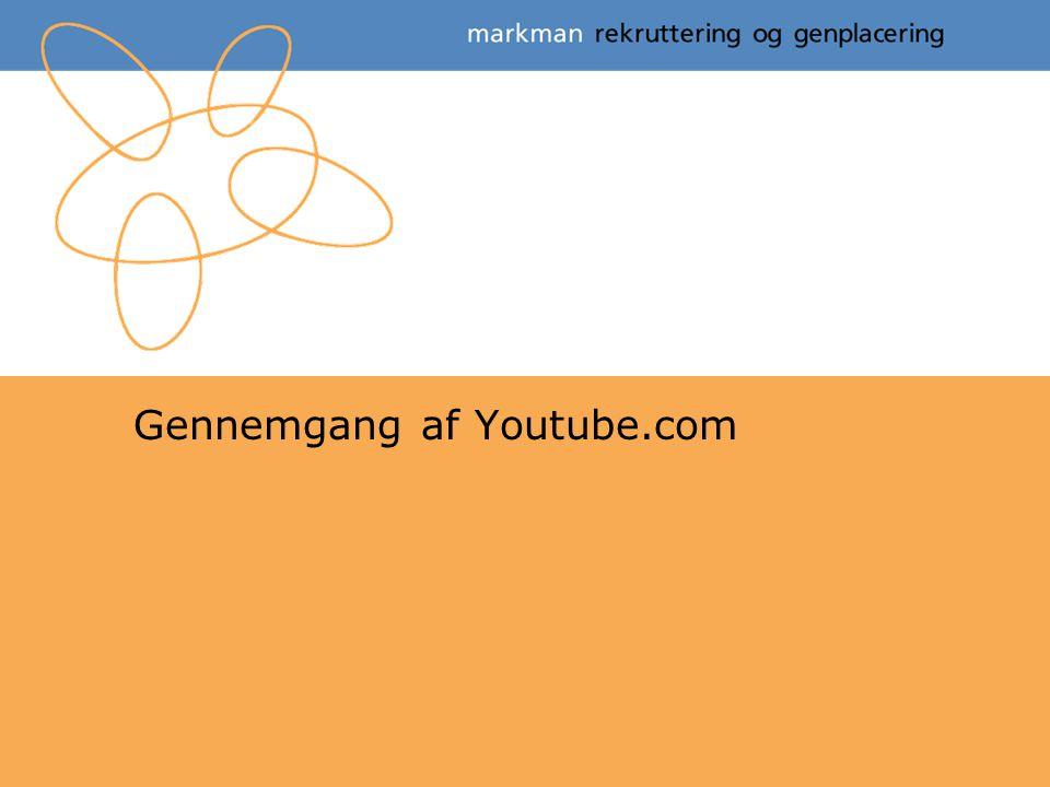 Gennemgang af Youtube.com