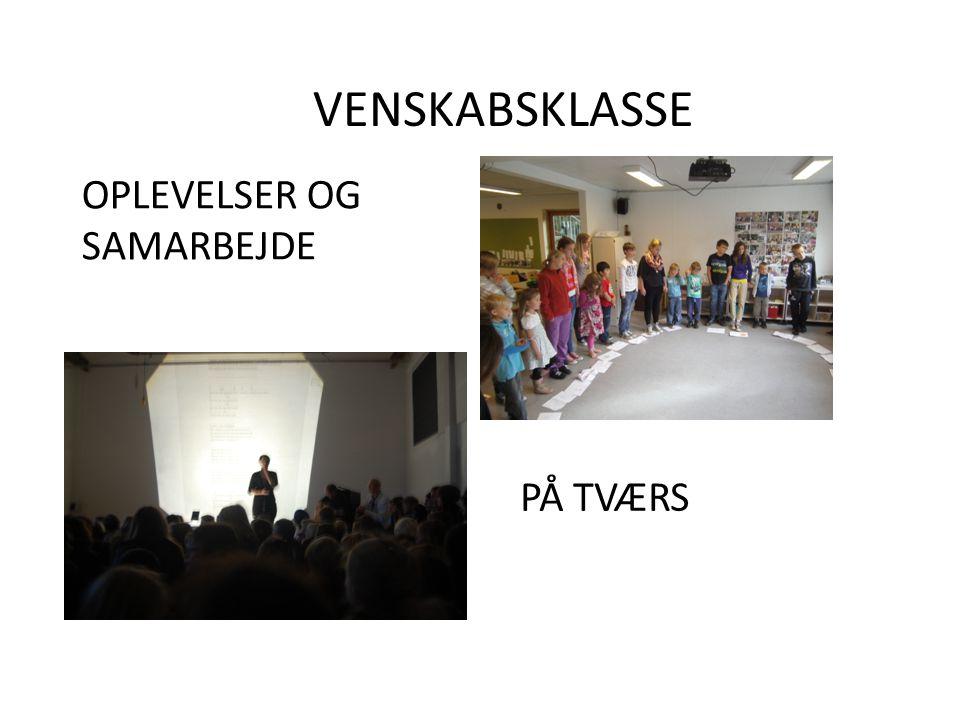 VENSKABSKLASSE PÅ TVÆRS OPLEVELSER OG SAMARBEJDE
