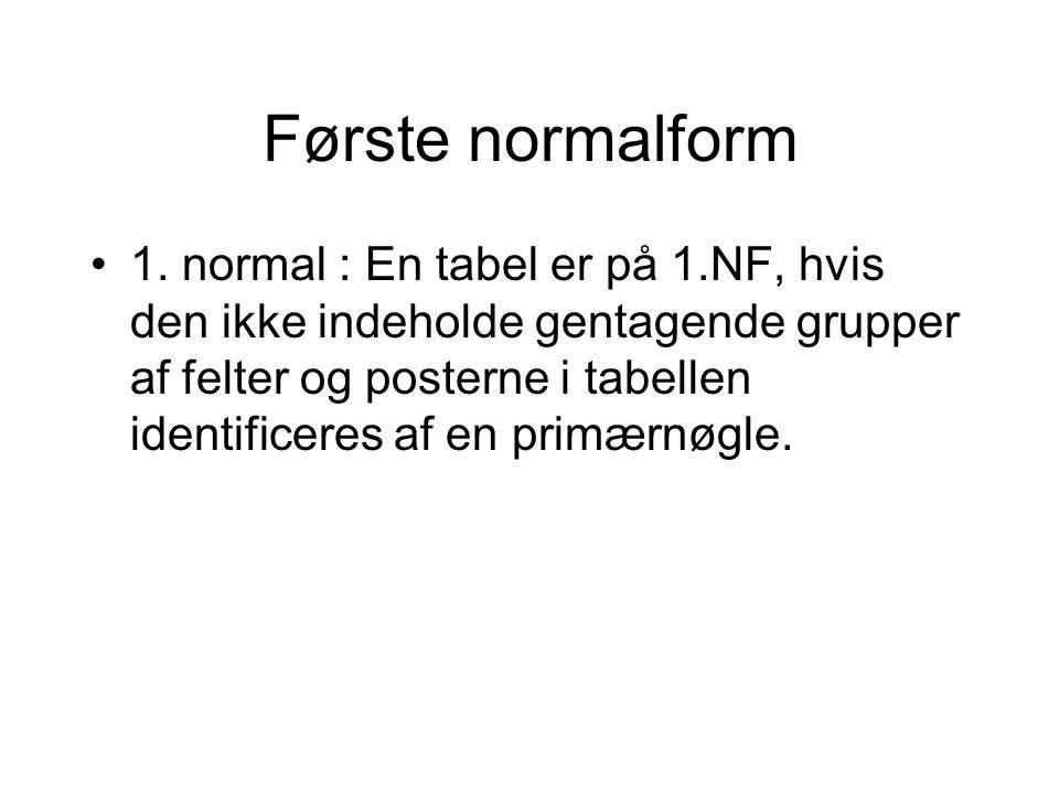 Første normalform 1.