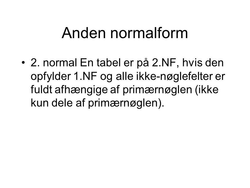 Anden normalform 2.