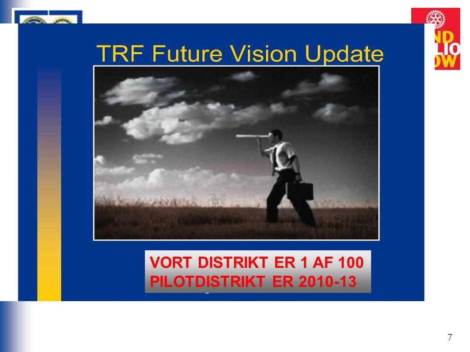 7 Forandringens vinde blæser VORT DISTRIKT ER 1 AF 100 PILOTDISTRIKT ER 2010-13