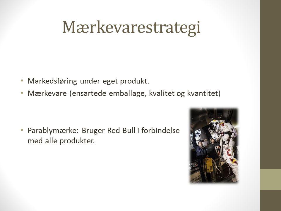 Mærkevarestrategi Markedsføring under eget produkt.