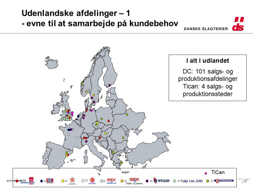 tg/rsc delegeret/200534 Udenlandske afdelinger – 1 - evne til at samarbejde på kundebehov G12 – dec.