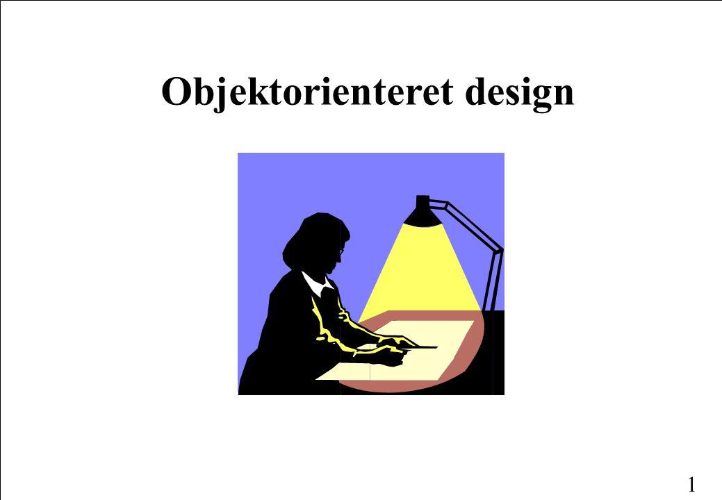 1 Objektorienteret design