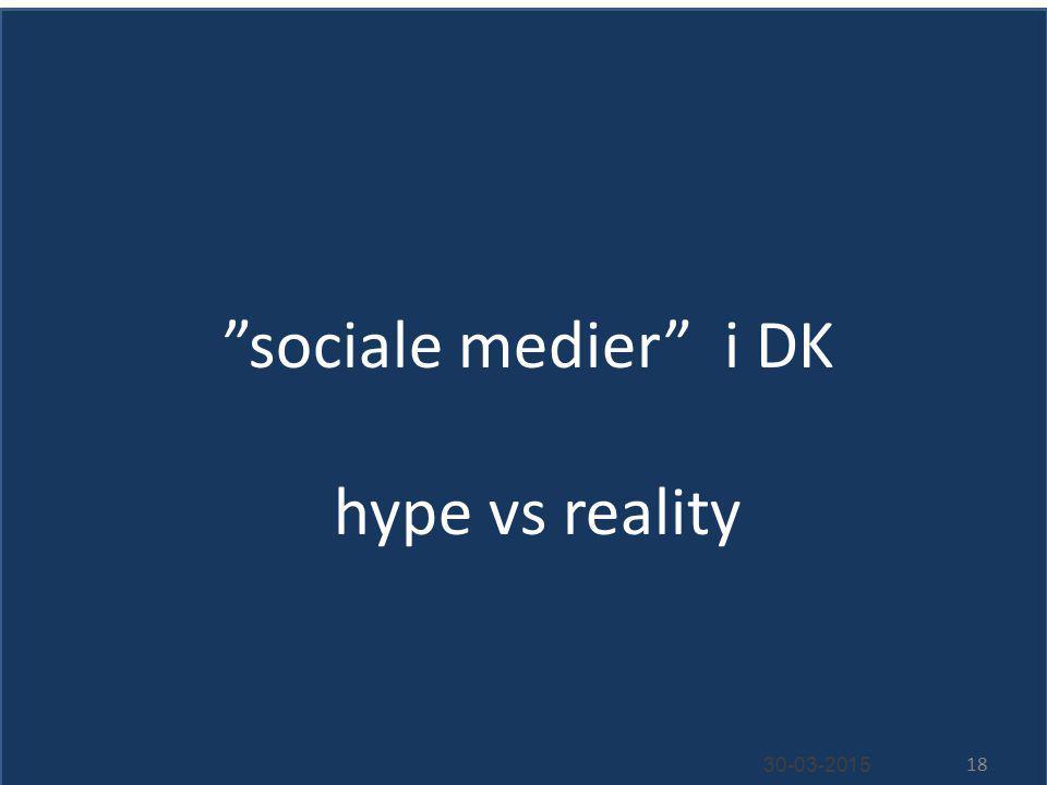 sociale medier i DK hype vs reality 30-03-2015 18