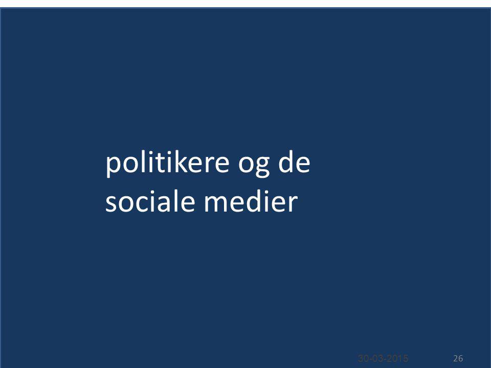 politikere og de sociale medier 30-03-2015 26