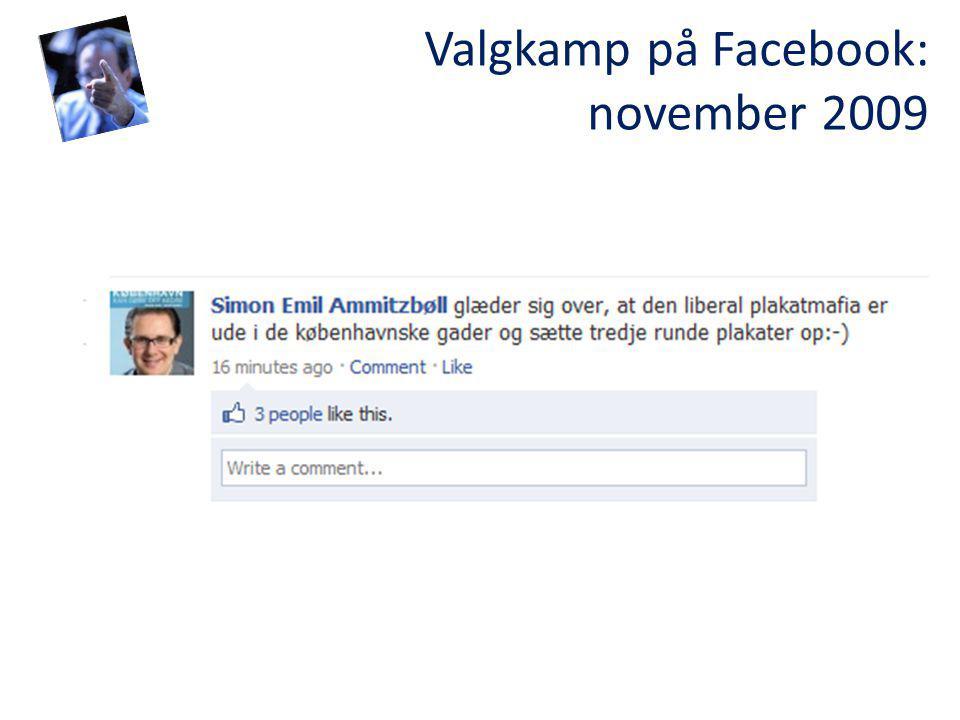 Valgkamp på Facebook: november 2009
