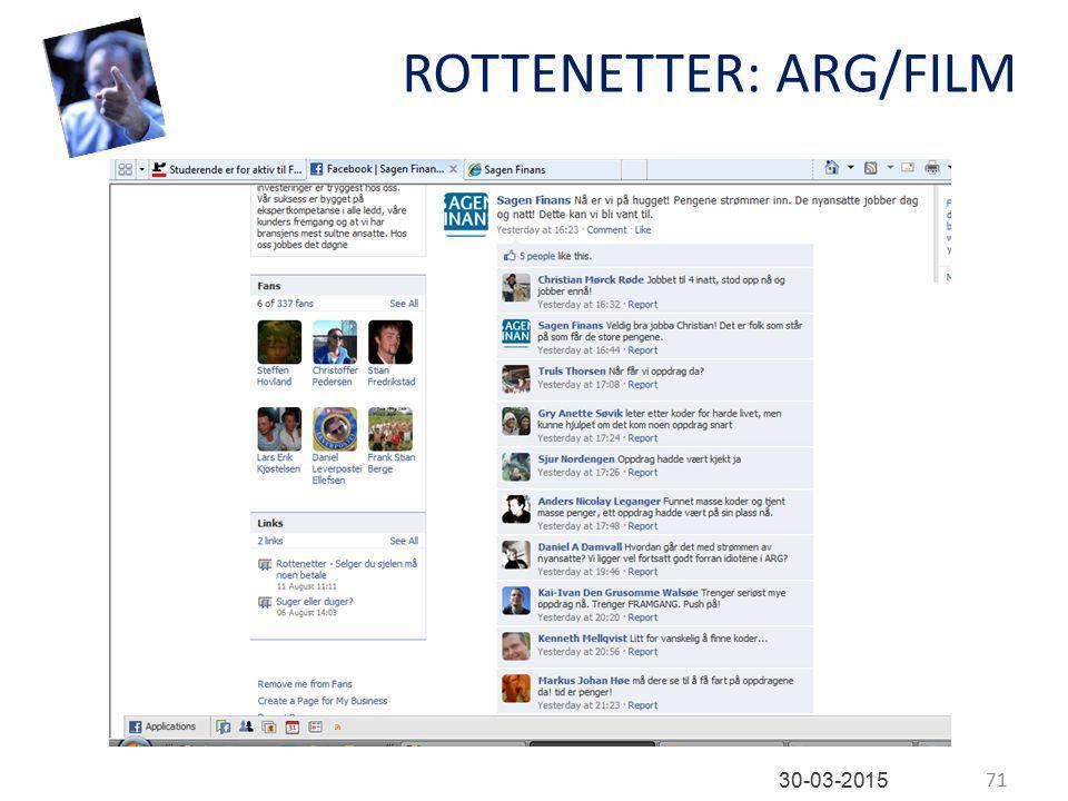 ROTTENETTER: ARG/FILM 71 30-03-2015