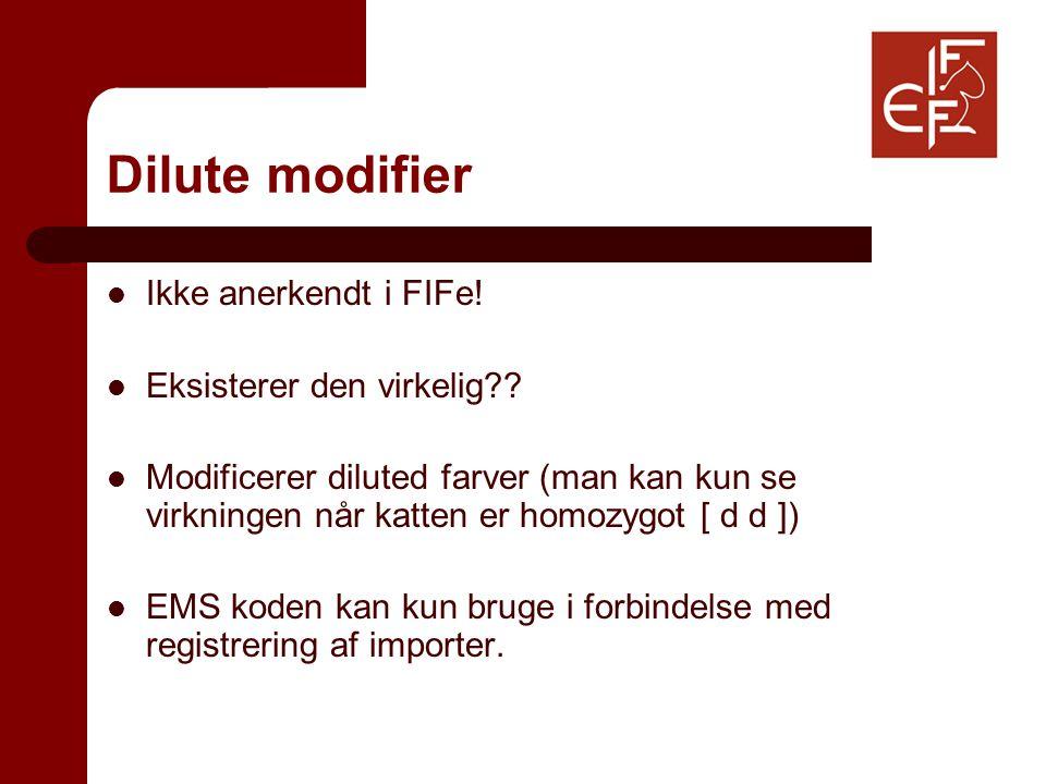 Dilute modifier Ikke anerkendt i FIFe. Eksisterer den virkelig .