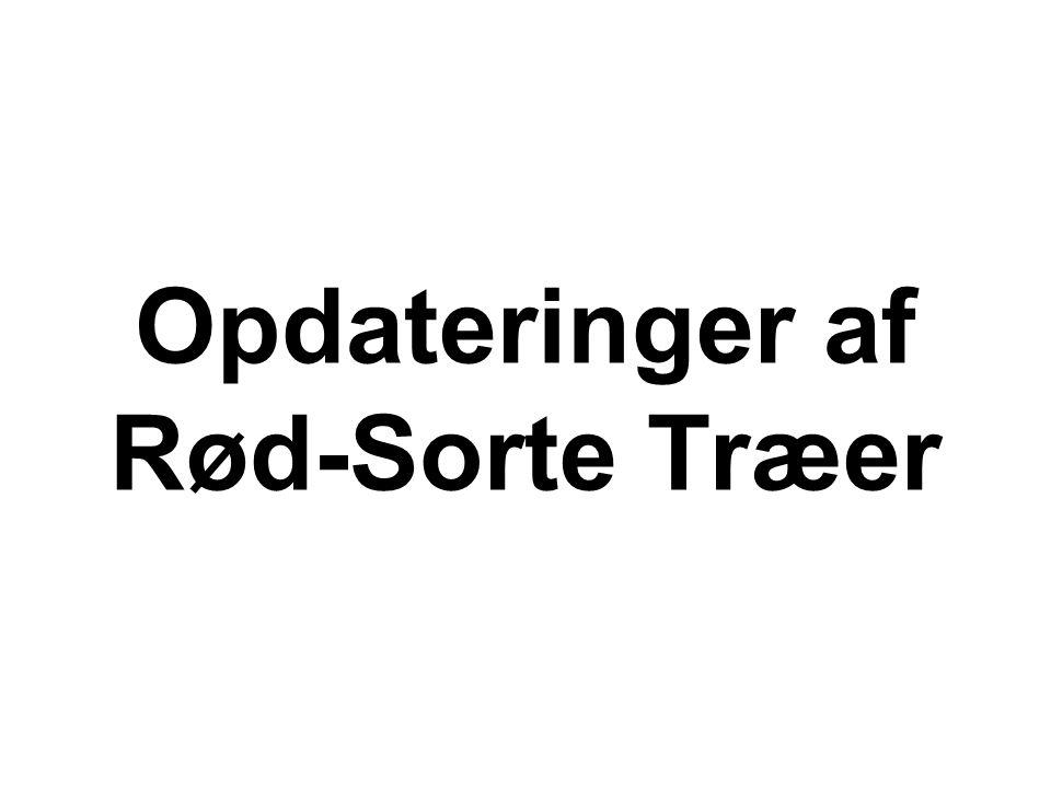 Opdateringer af Rød-Sorte Træer