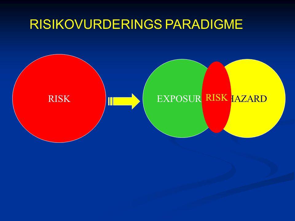 EXPOSUREHAZARD RISK RISIKOVURDERINGS PARADIGME