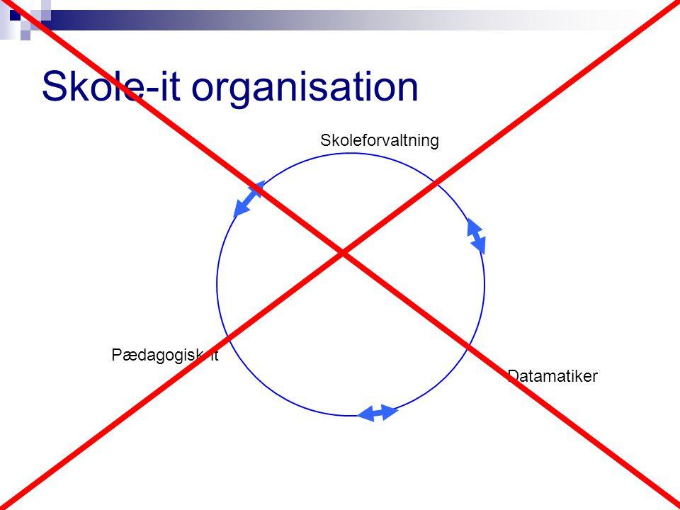 Datamatiker Skoleforvaltning Pædagogisk it Skole-it organisation