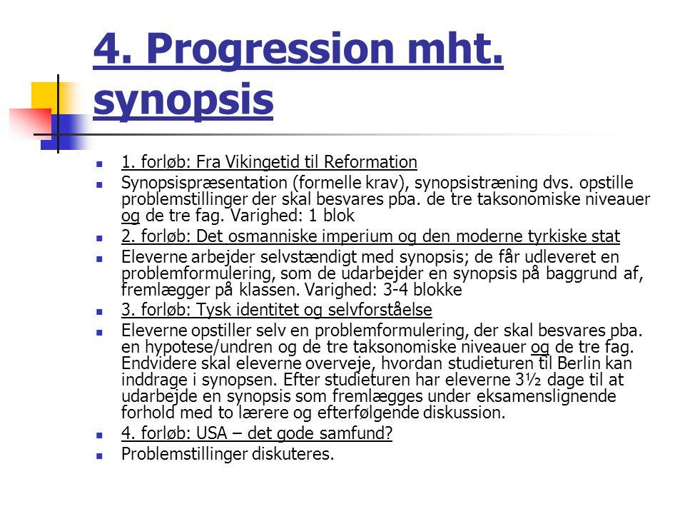 4. Progression mht. synopsis 1.