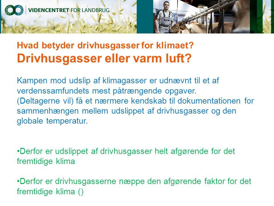 Hvad betyder drivhusgasser for klimaet. Drivhusgasser eller varm luft.