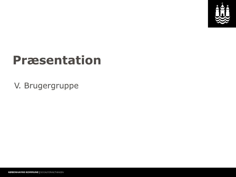 1 Præsentation V. Brugergruppe
