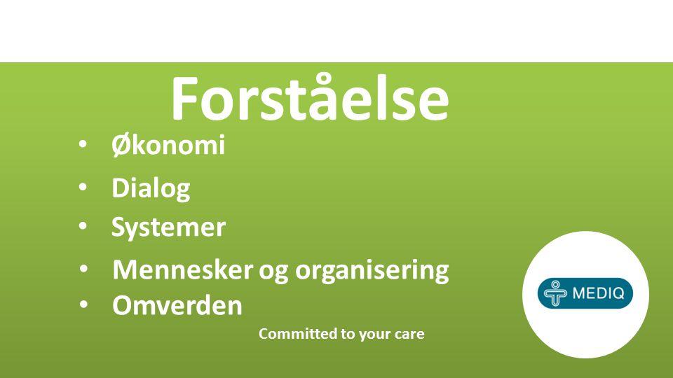 Økonomi Committed to your care Dialog Systemer Mennesker og organisering Omverden Forståelse