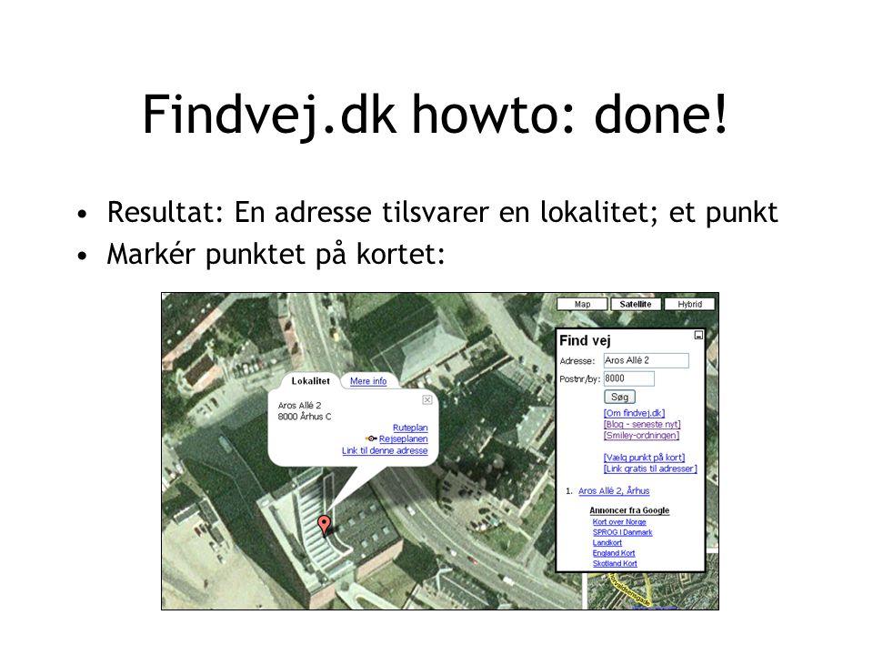 Findvej.dk howto: done.