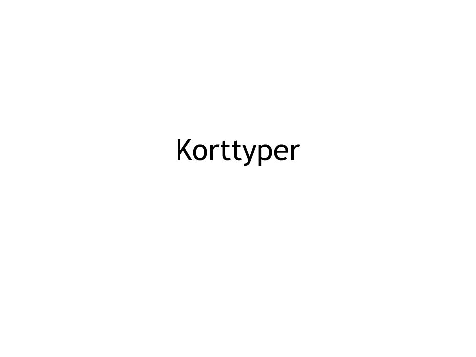 Korttyper