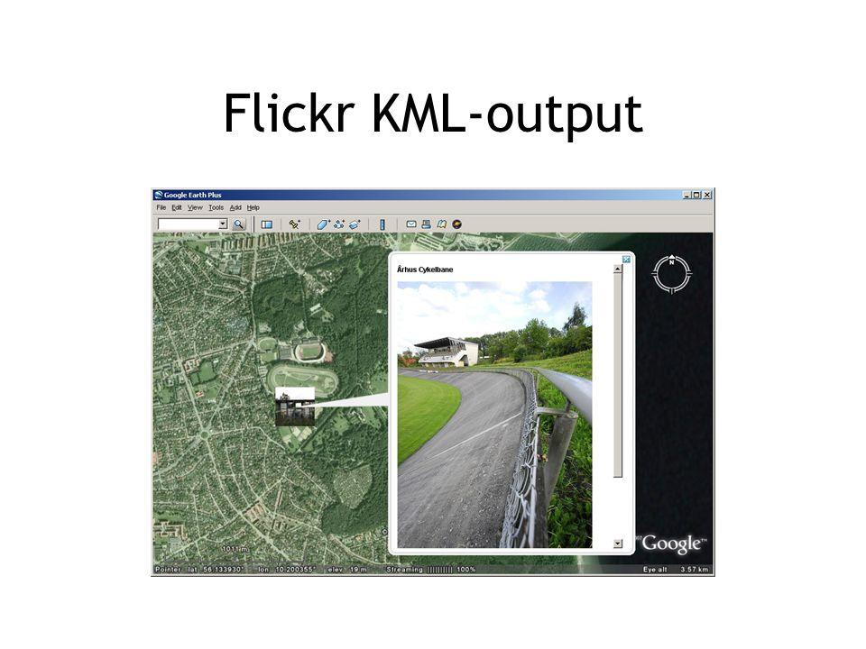 Flickr KML-output