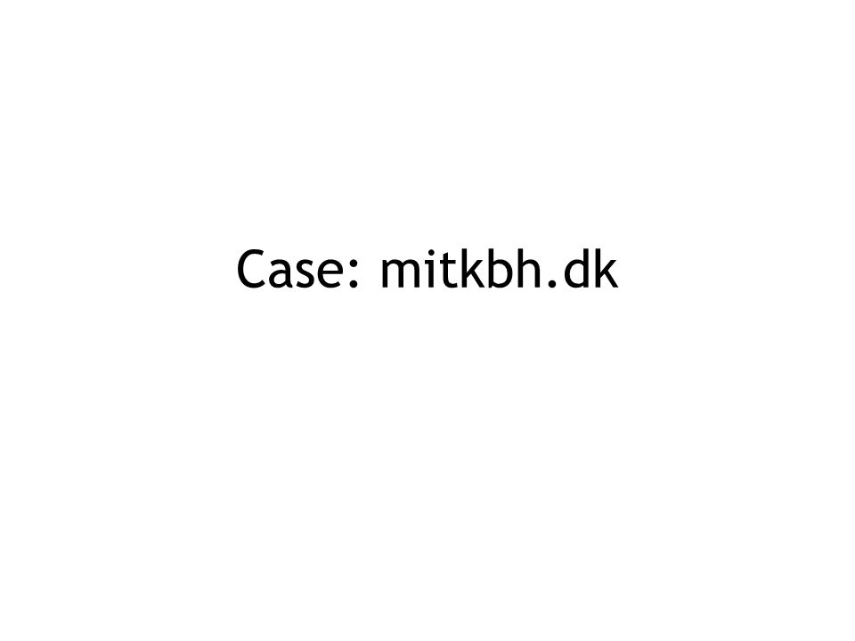 Case: mitkbh.dk