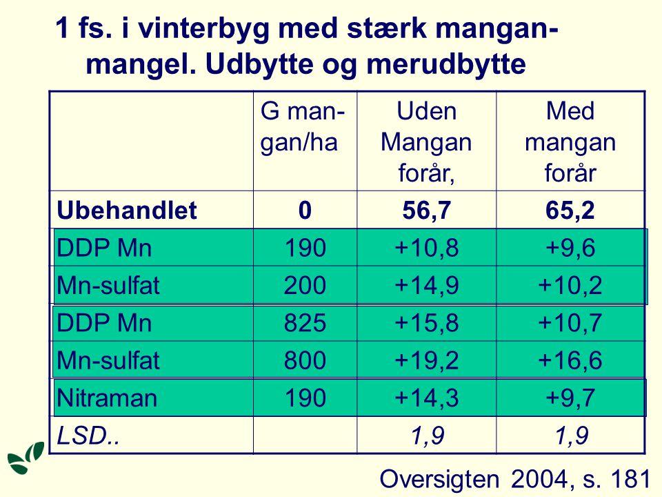 1 fs. i vinterbyg med stærk mangan- mangel.