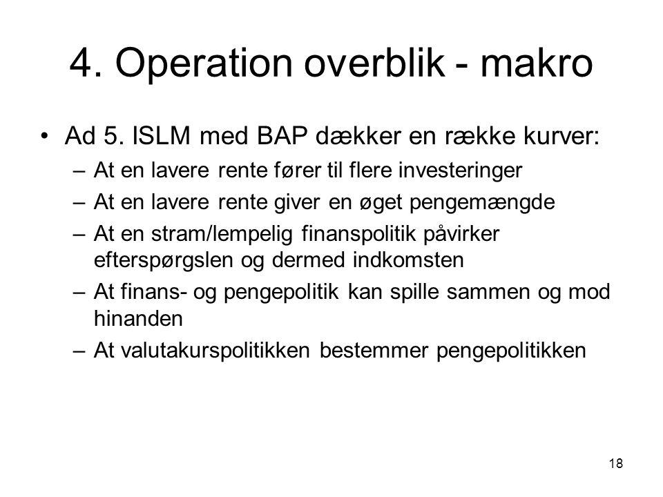18 4. Operation overblik - makro Ad 5.