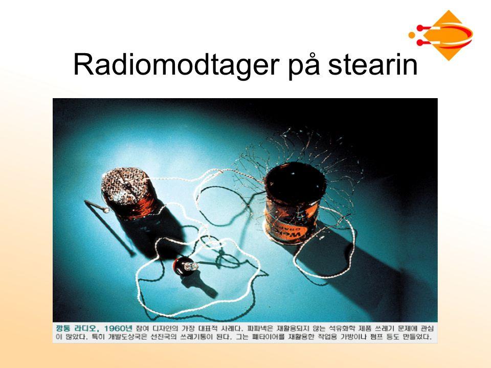 Radiomodtager på stearin