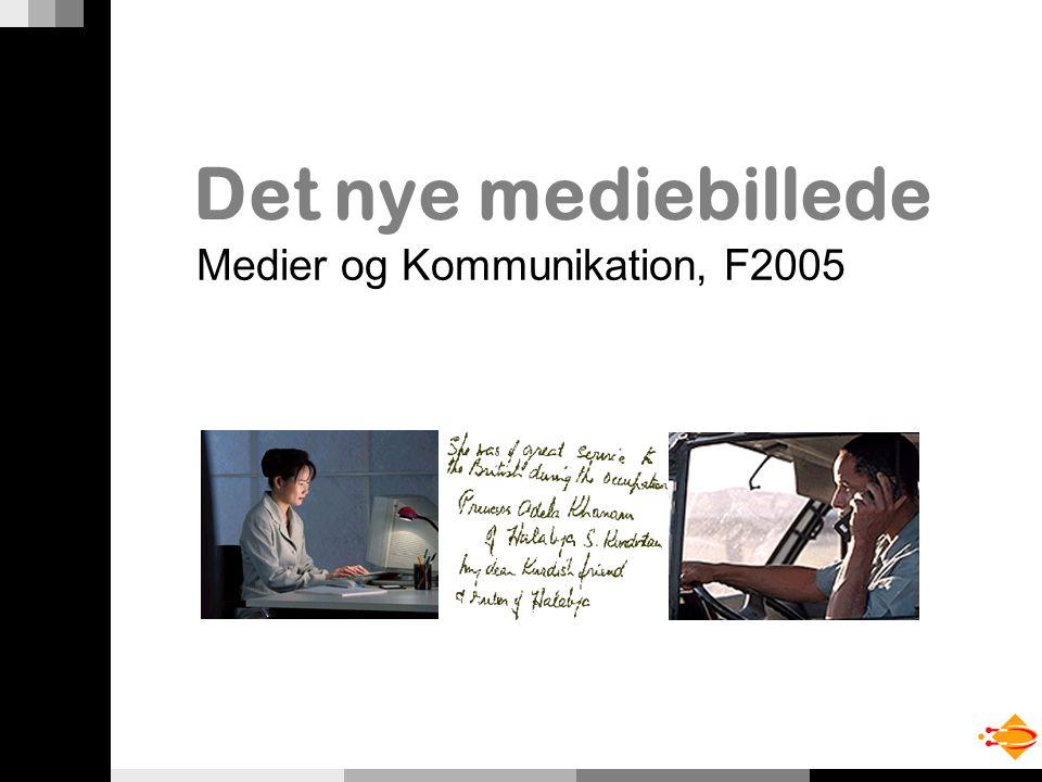Det nye mediebillede Medier og Kommunikation, F2005