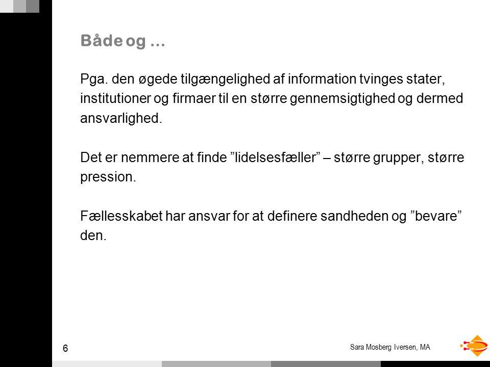 6 Sara Mosberg Iversen, MA Både og … Pga.