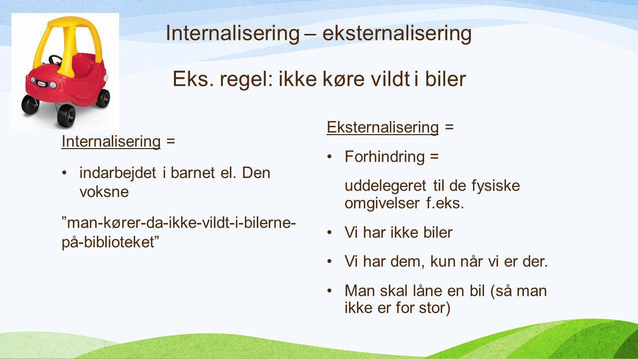 Internalisering – eksternalisering Eks.