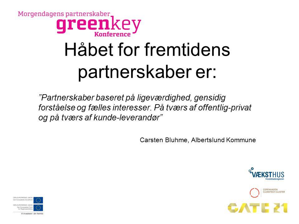 Håbet for fremtidens partnerskaber er: Partnerskaber baseret på ligeværdighed, gensidig forståelse og fælles interesser.