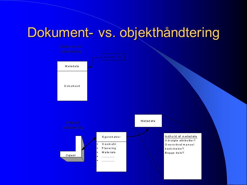 Dokument- vs. objekthåndtering