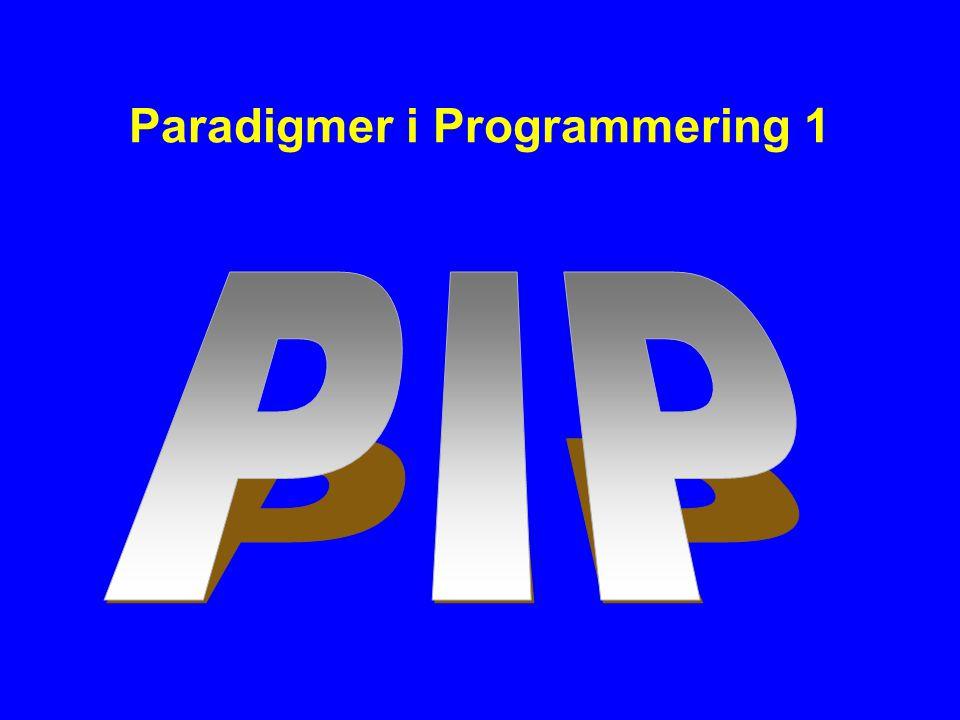 Paradigmer i Programmering 1